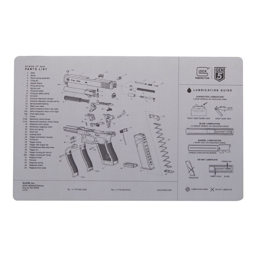 Color Glock Pistol Diagram Guide And Troubleshooting Of Wiring 23 Grey Gen5 Bench Mat Usa 19 Nomenclature